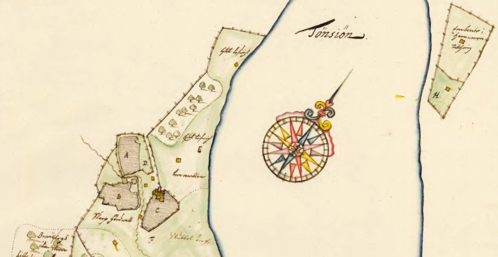 Detalj ur karta från 1711