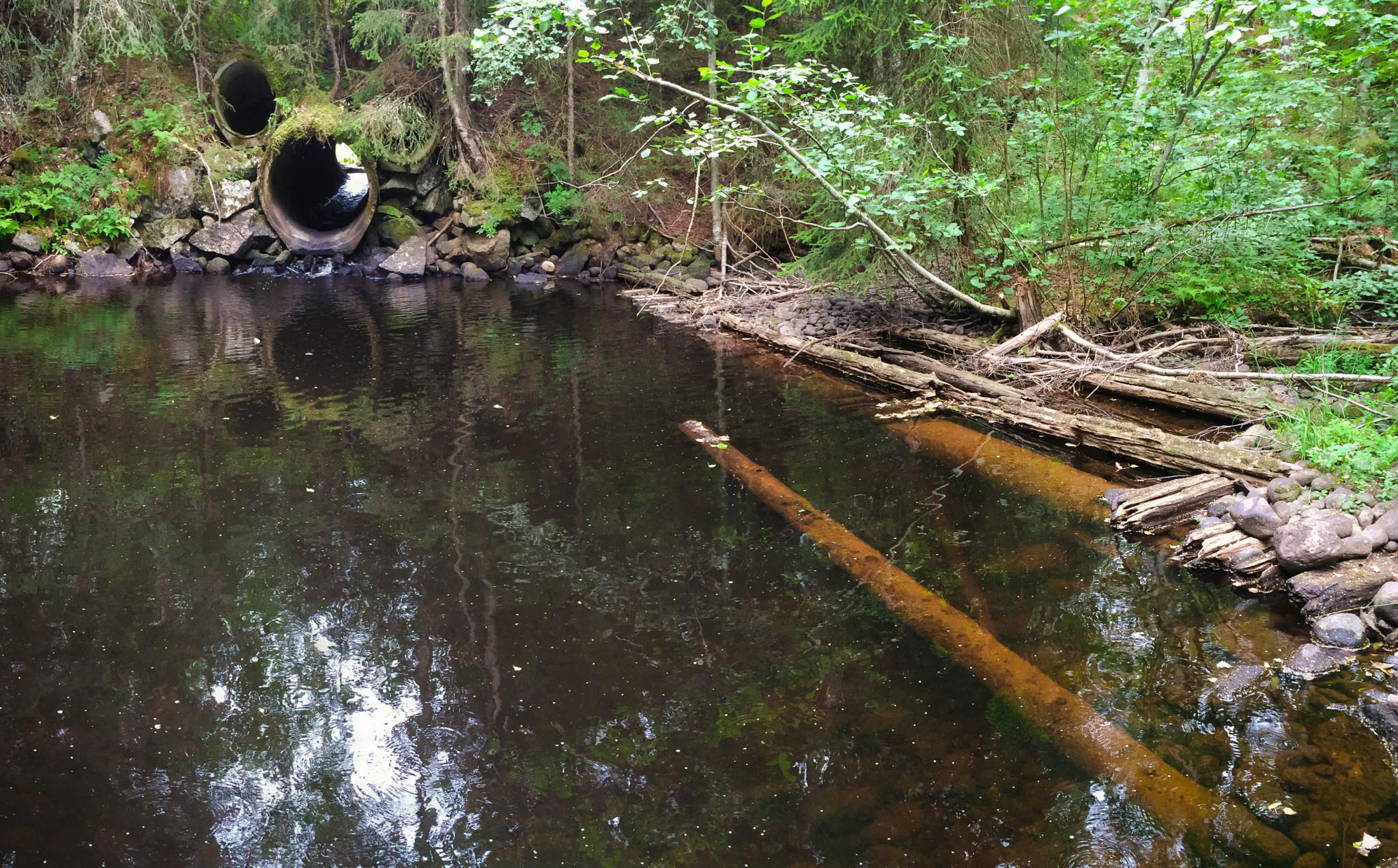 Idag finns inte mycket kvar, en damvall och en träkonstruktion